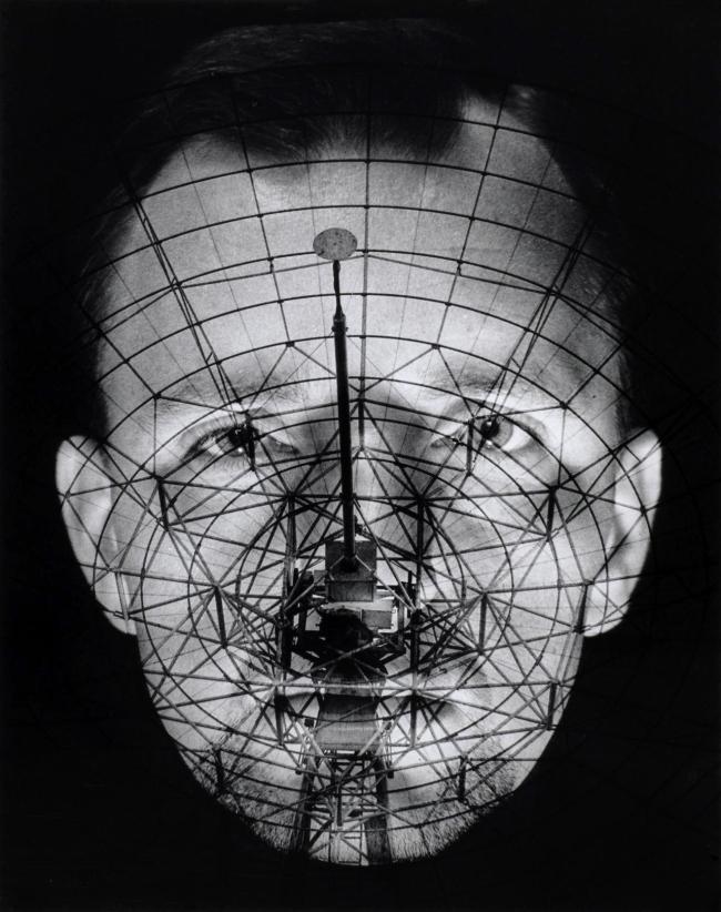 Raymond De Berquelle. 'Where do you come from? Planet Earth (Self-portrait with radio telescope)' 1968