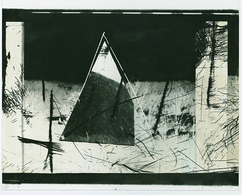 Triangle in the Landscape: Eleven Second 90 Degree Turn of a Paper Triangle, August 6, 1985 (Hiroshima Day)