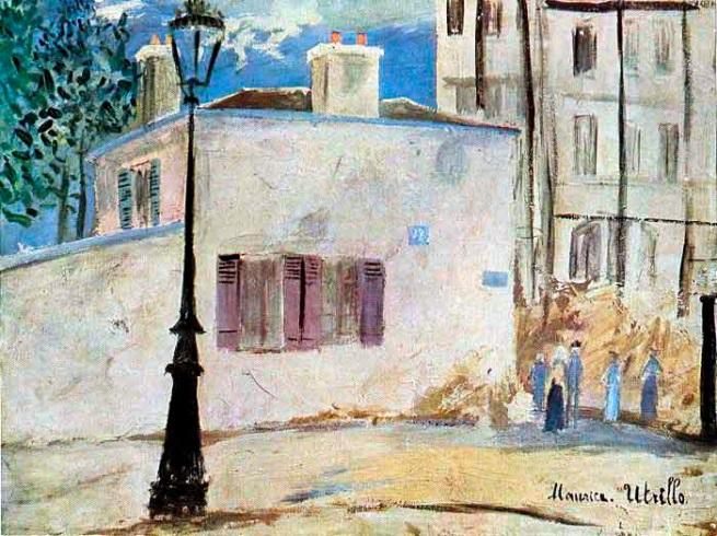 Maurice Utrillo. 'Berlioz House' 1910