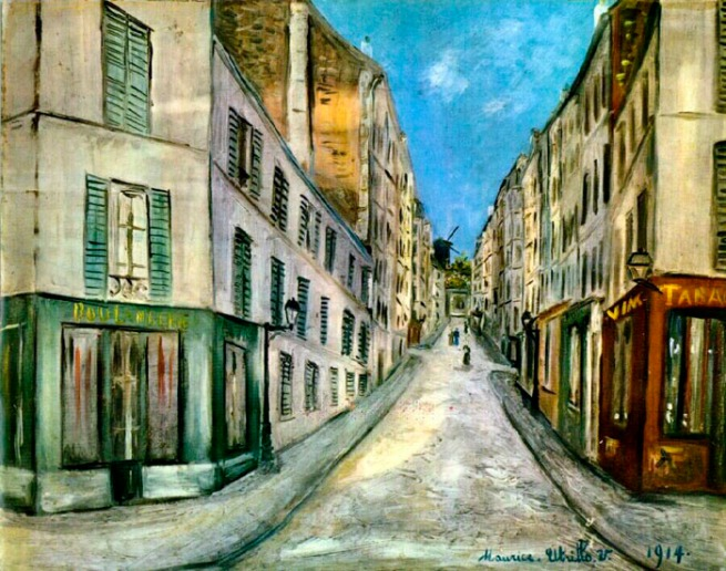 Maurice Utrillo. 'Paris Street' 1914