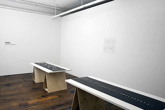 Installation views ofNatasha Dusenjko's exhibition 'Babel'at Craft Victoria, Melbourne
