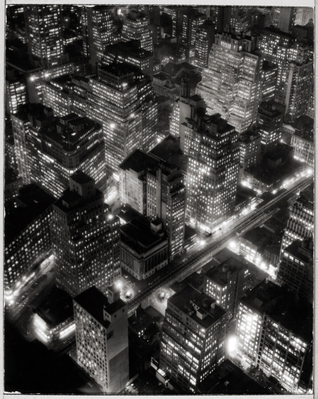 Berenice Abbott (American, 1898-1991) 'New York at Night' c. 1932