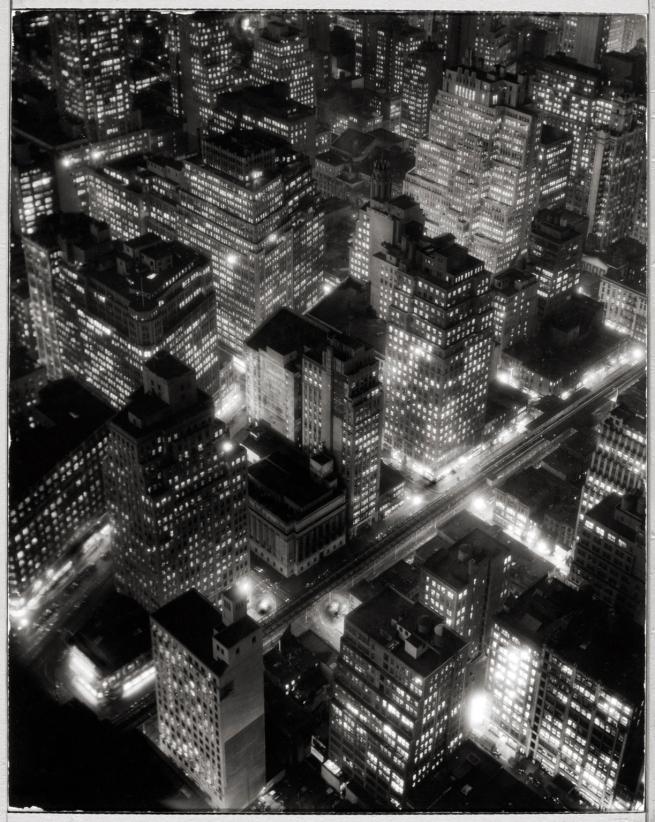 Berenice Abbott (American, 1898-1991) 'New York at Night' c. 1932