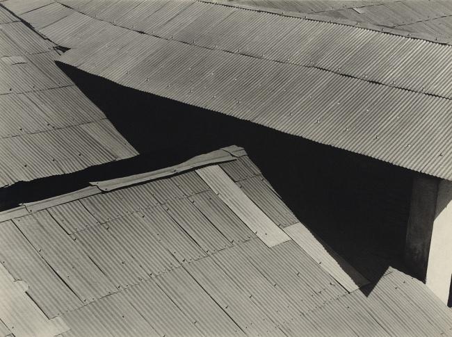 Brett Weston(American, 1911-1993) 'Tin Roofs, Mexico' 1926
