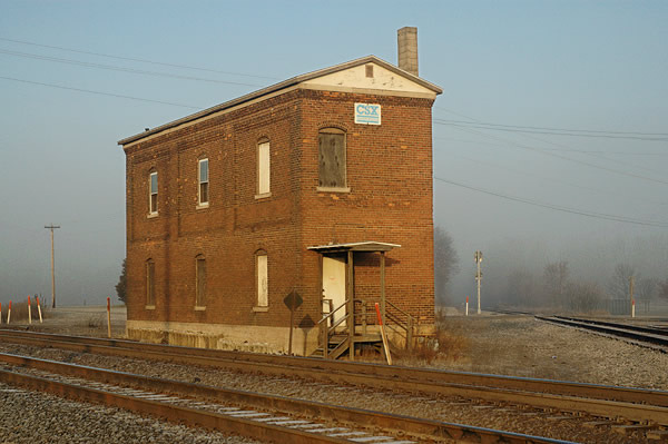 Kay Westheus. 'CSX railroad building, Walkerton' 2005