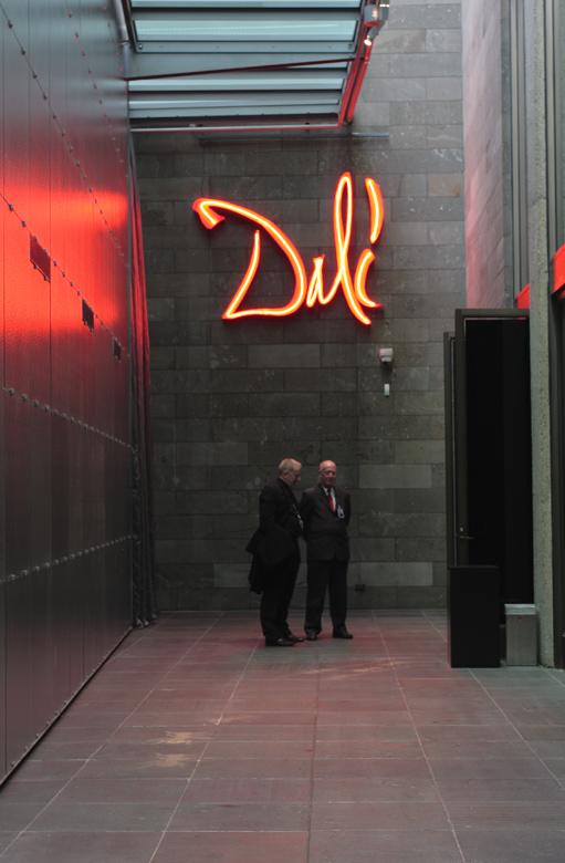 Entrance to the 'Salvador Dali: Liquid Desire' Winter Masterpieces exhibition at NGV International, Melbourne