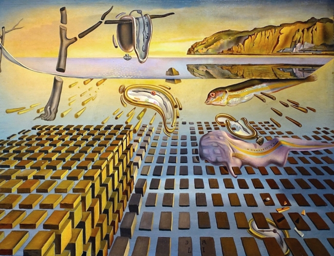Salvador Dalí. 'The disintegration of The persistence of memory' 1952-54