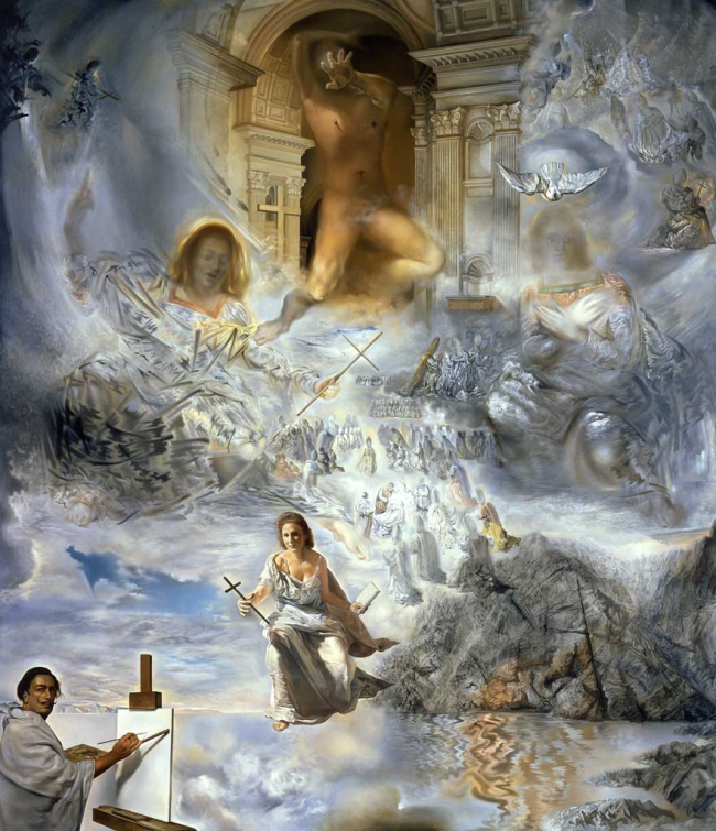 Salvador Dalí. 'The Ecumenical Council' 1960