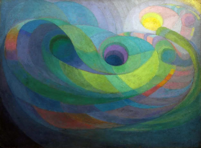 Roy de Maistre(Australian, 1894-1968) 'Rhythmic composition in yellow green minor' 1919
