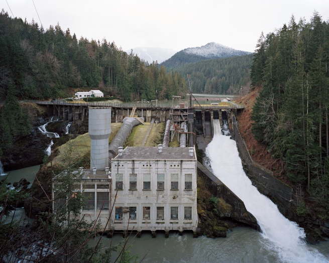 Eirik Johnson (American, b. 1974) 'Elwha River Dam, Washington' 2006-2008
