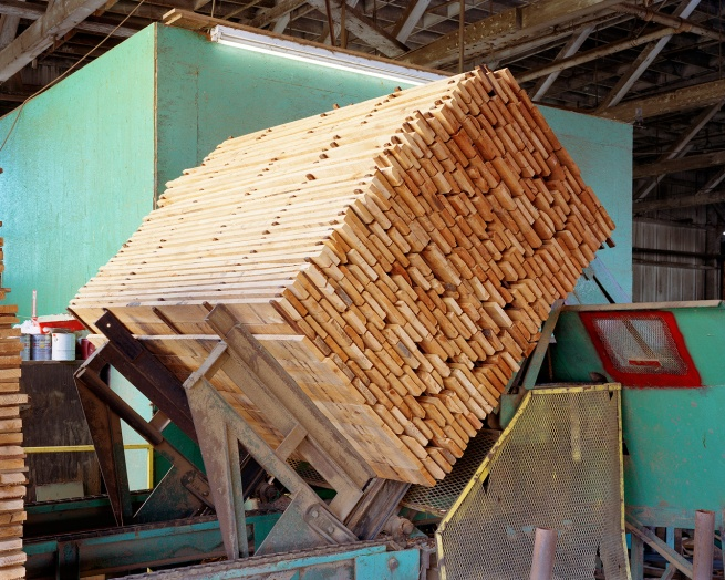 Eirik Johnson (American, b. 1974) 'Stacked alder boards, Seaport Lumber Planer, South Bend, Washington' 2006-2008
