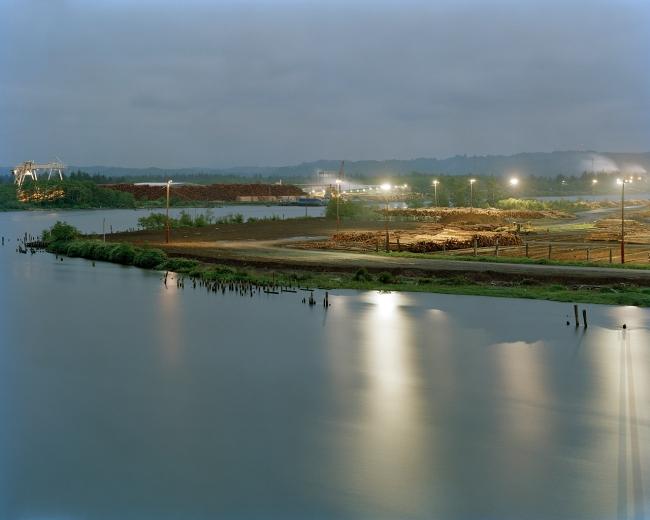 Eirik Johnson(American, b. 1974) 'Weyerhaeuser sorting yard along the Chehalis River, Cosmopolis, Washington' 2006-2008