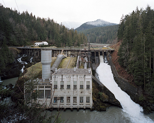 Eirik Johnson. 'Elwha River Dam, Washington' from the series Sawdust Mountain 2006 - 2008