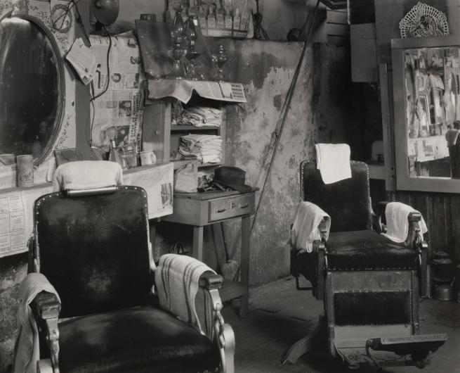 Walker Evans(American, 1903-1975) 'Negro Barbershop Interior, Atlanta' 1936