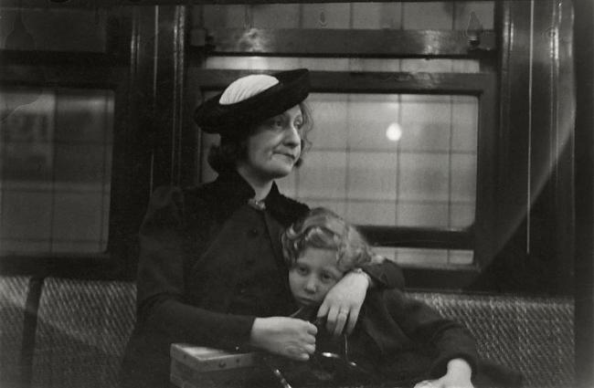 Walker Evans(American, 1903-1975) 'Subway Passengers, New York' 1938