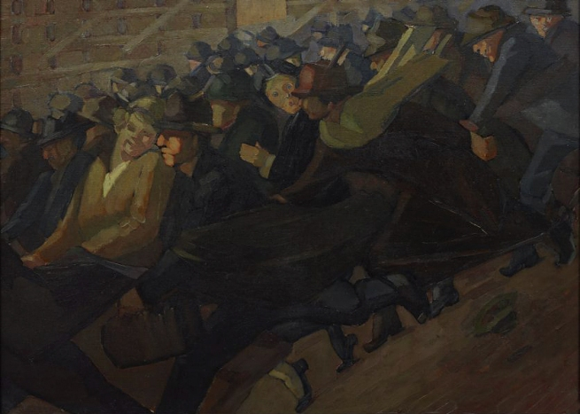 Grace Cossington Smith (Australia, 1892-1984) 'Rushing' c. 1922