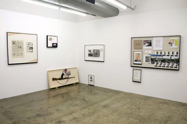 Matthew Hale. Installation view of DER MOND v LE MONDE at The Narrows, Melbourne