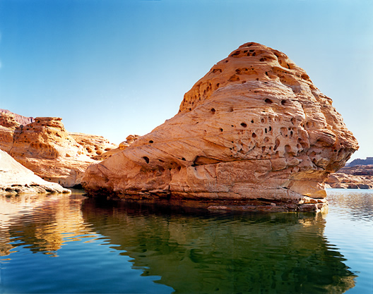 Karen Halverson. 'Hite Crossing, Lake Powell, Utah' from the 'Downstream' series 1994 - 95