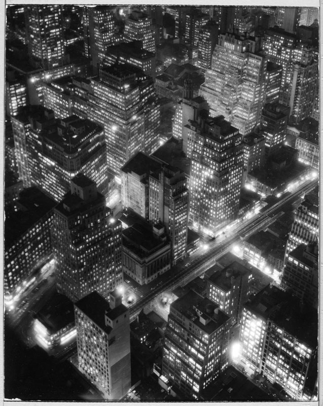Berenice Abbott (American, 1898 – 1991). 'New York at Night' c. 1932