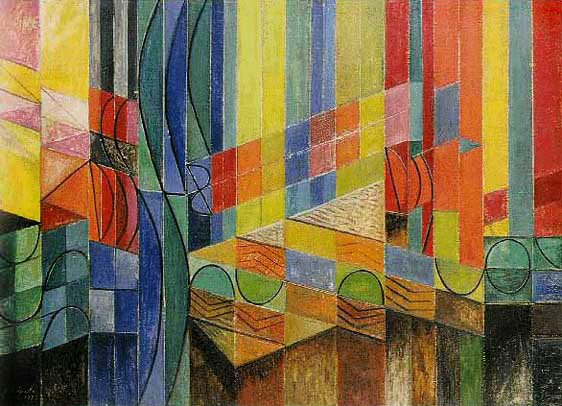 Roy de Maistre (Australian, 1894-1968) 'Colour Composition derived from three bars of music in the Key of Green' 1935