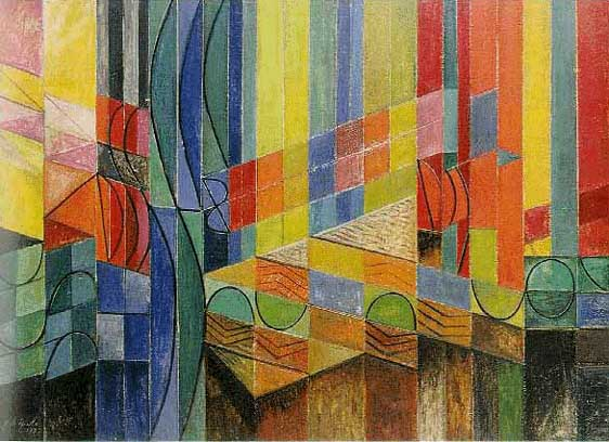 Roy de Maistre. 'Colour Composition derived from three bars of music in the Key of Green' 1935