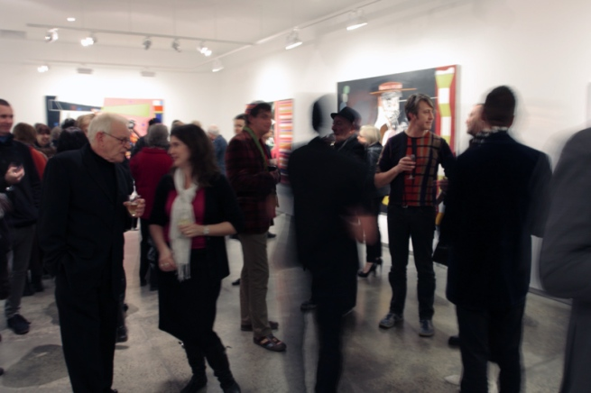 Gareth Sansom opening at John Buckley Gallery, Melbourne