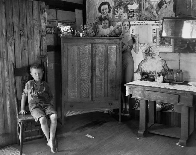 Walker Evans (American, 1903-1975) 'West Virginia Living Room' 1935