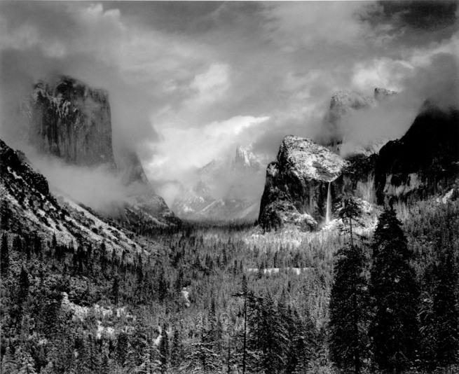 Ansel Adams. 'Yosemite Valley, Summer' 1942