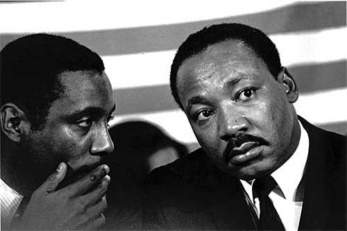 Benedict J. Fernandez. 'Dick Gregory with MLK [Martin Luther King, JR.] New Politics Convention, Chicago, ILL. October, 1967' 1967