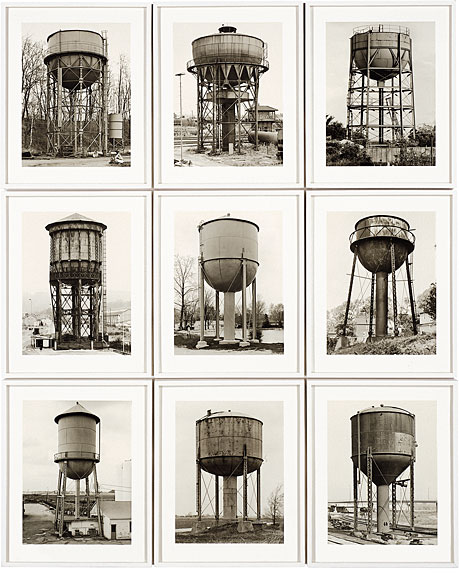 Bernd and Hiller Becher. 'Water Towers' 1980