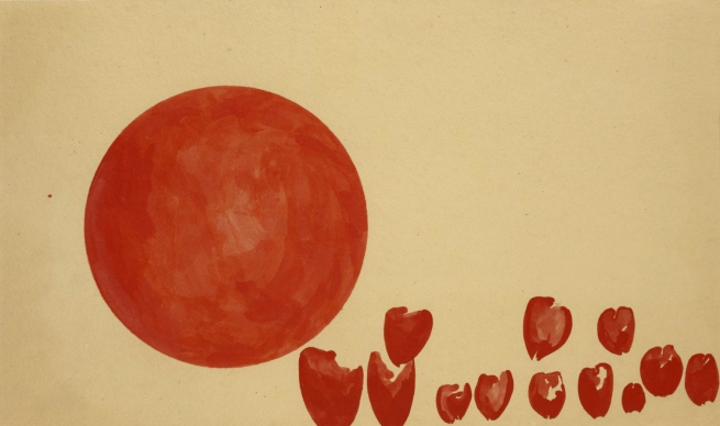 Joseph Beuys(German, 1921-1986) 'Passage der Zukunftplanetoiden' (Hearts of the Revolutionaries: Passage of the Planets of the Future) 1955