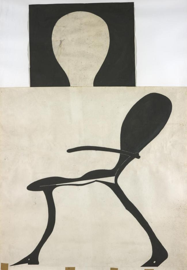 Joseph Beuys. 'Stark beleuchteter Hirschstuhl (Brightly-Lit Stag Chair)' 1957-1971