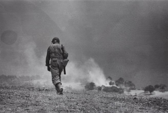 Robert Capa. 'Near Troina, Sicily, August 4-5, 1943. Reconnaissance mission.' 1943