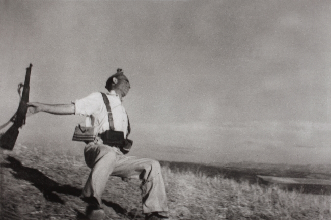 Robert Capa. 'September 5, 1936. The death of a Loyalist militiaman' 1936