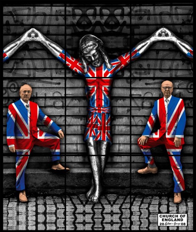 Gilbert & George. 'CHURCH OF ENGLAND' 2008