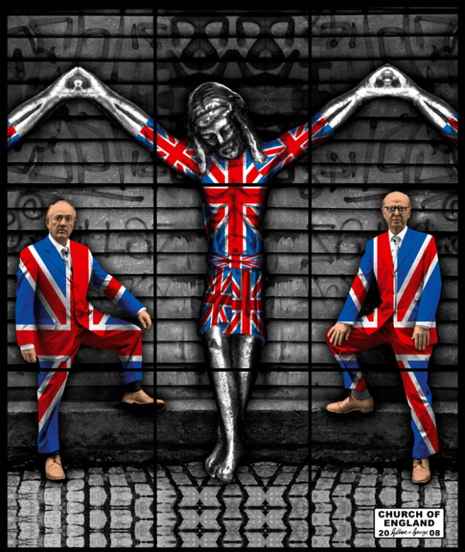 Gilbert & George. 'CHURCH OF ENGLAND' 2008