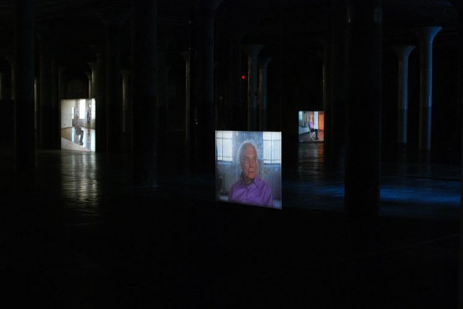 "Tacita Dean. 'Merce Cunningham Performs 'Stillness' (in three movements) to John Cage's composition 4'33"" with Trevor Carlson, New York City, 28 April 2007 (six performances; six films)' 2007"