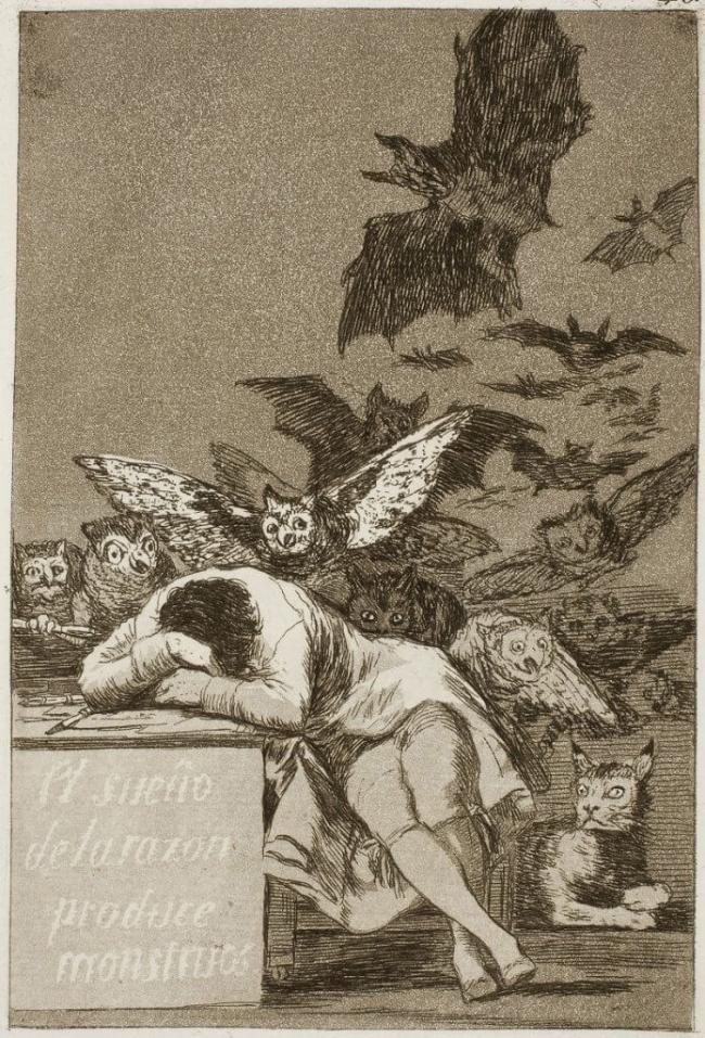 Francisco de Goya. 'Los Caprichos', plate 43 from the series 'El sueño de la razón produce monstros' 1799