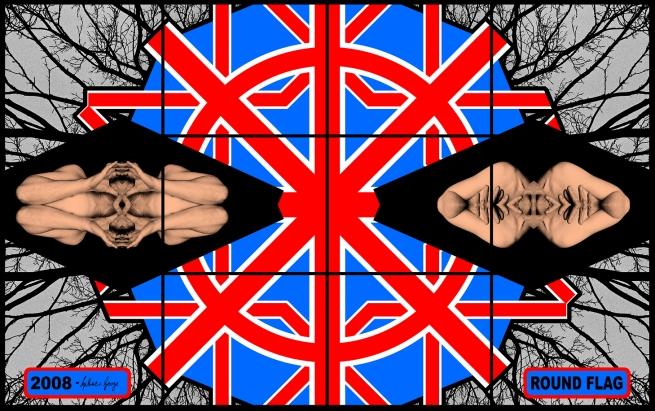 Gilbert & George. 'ROUND FLAG' 2008