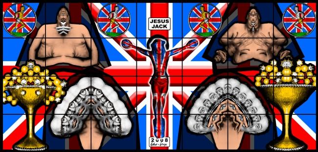 Gilbert & George. 'JESUS JACK' 2008