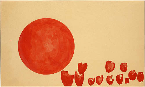 Joseph Beuys. 'Passage der Zukunftplanetoiden (Hearts of the Revolutionaries: Passage of the Planets of the Future)' 1955