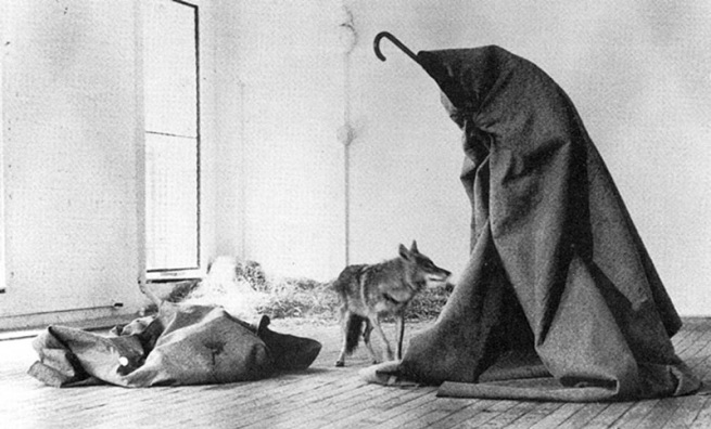 Joseph Beuys. 'I like America and America likes me' action 1974