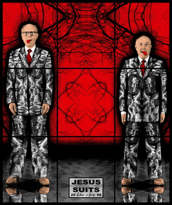 Gilbert & George. 'JESUS SUITS' 2008