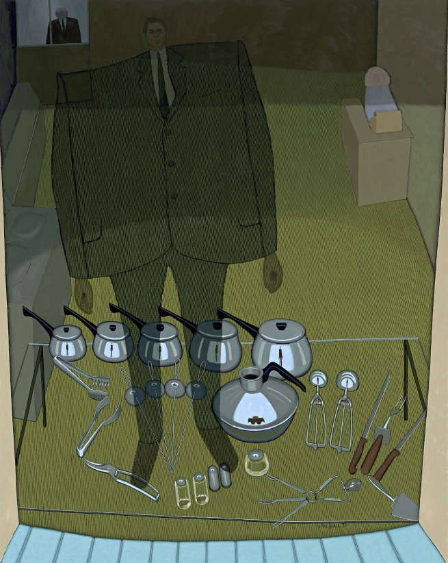 John Brack. 'Inside and outside (The shop window)' 1972