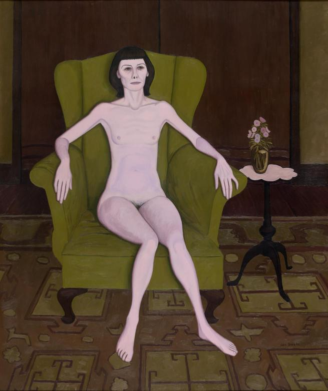John Brack. 'Nude in an armchair' 1957