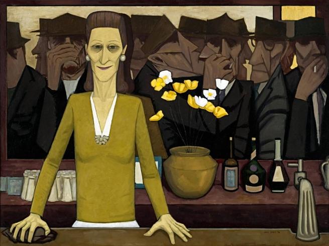 John Brack(Australian, 1920-1999) 'The bar' 1954