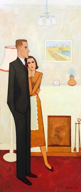 John Brack. 'The new house' 1953