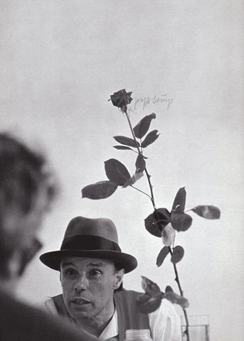 Joseph Beuys with 'Rose for Direct Democracy' 1973