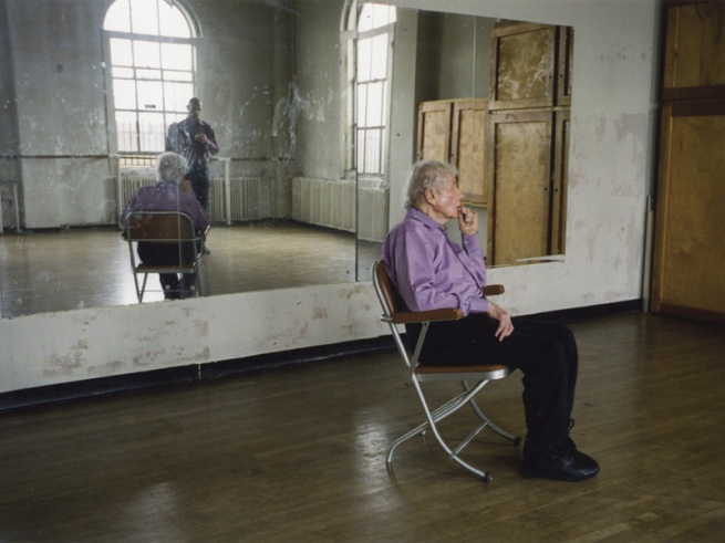 """Tacita Dean. 'Merce Cunningham Performs 'Stillness' (in three movements) to John Cage's composition 4'33"""" with Trevor Carlson, New York City, 28 April 2007 (six performances; six films)' 2007"""
