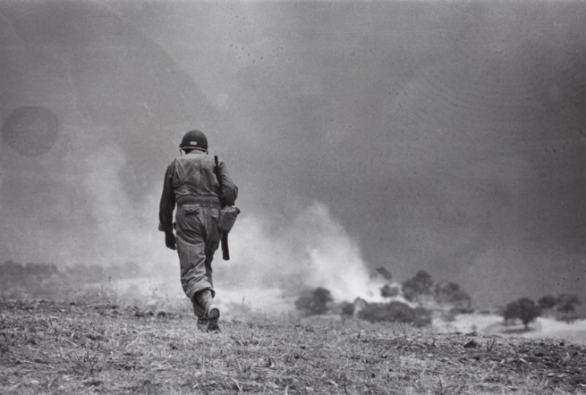 Robert Capa. 'Near Troina, Sicily, August 4-5, 1943. Reconnaissance mission.' 1943